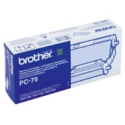 Rol voor thermische transfer Brother PC75 zwart