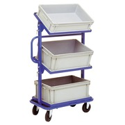 Cart for boxes three levels