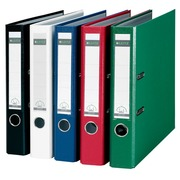 Leitz, folder with lever 180°, back 5 cm, blue polypropylene cover