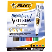 Bic Vellada, set of 4 markers, plastic, assorted colours