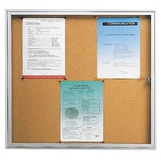 Inside display with swinging door cork panel 6 sheets A4
