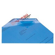 Pack of 100 plastic covers for binding machine, blue