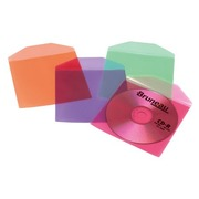 Set 50 Cd sleeves with fold, assorted colours T'nB