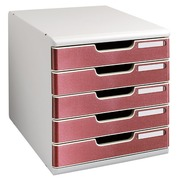 Classifying module Exacompta Modula 5 drawers black with colored borders