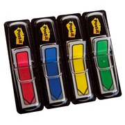 Set 4 dispensers 24 index arrows Post-it, standard colours