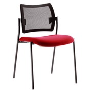 Visitor chair Yota, blue seat back rest in black mesh structure