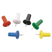 Box of 100 push pins in assorted colours
