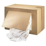 Box of 10 kg white rags for optical objects