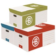Archive cases cardboard Bruneau H 27 x W 55 x D 36 cm assorted colors