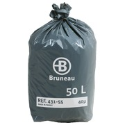 Cardboard of 200 plastic bags, standard quality < BR > 50 liters 40 microns
