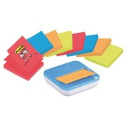 Pack dispenser + 8 coloured Z-Notes Super Sticky Post-it