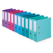 Lever arch files assorted, trendy colours back 7,5 cm