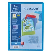 Document protection Kreacover Exacompta translucent polypropylene personalisable A4 - 40 sleeves assorted colours