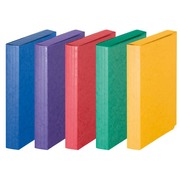 Expandable file folder Exacompta Jumbo, velcro fastening and 10 cm back - assorted colors
