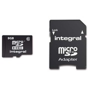Memory card Intégral SDHC with adapter 8 Gb - class 10
