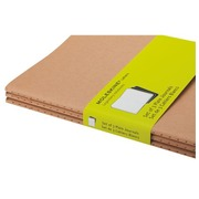 Pack of 3 notebooks Moleskine kraft 9 x 14 cm ivory non checked 64 pages