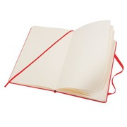 Notebook Moleskine strong 9 x 14 cm ivory non checked 192 pages - red