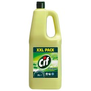Bottle of 2 L Cif cream lemon