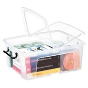 Storage box plastic 24 L Strata transparent