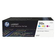 HP 312A pack of 3 toners colours