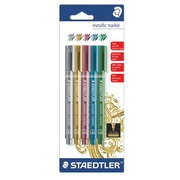 Marker Staedtler Metallic fine cone tip 2.7 mm assorted colours - Pack of 5