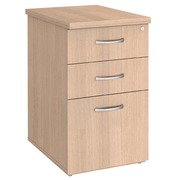Drawer cabinet desk height light oak depth 60 cm Bruneau Excellens