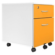 Cubo, mobile cabinet, white, 2 drawers, white