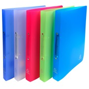 Ring binder 2 rings of 20 mm polypropylene CHROMALINE - A4 size - Assorted colours