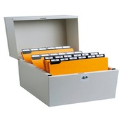 FILING BOX FOR 500 GUIDE CARDS 105X148-1 - Grey