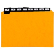 25 dividers 500 micron with alphabetical metallic tabs for horizontal filing 148x210mm