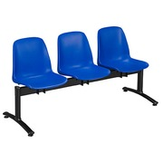 Bucket seat 3 places blue