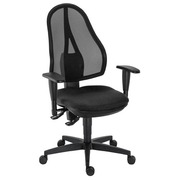 Holly Office Chair with Adjustable 3D Armrests Permanent Contact - Black