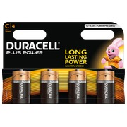Alkaline batteries C LR14 Duracell Plus Power blister of 4.
