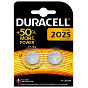 Blister of 2 lithium batteries Duracell CR2025