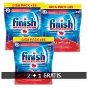 Pack 2 + 1 Finish Powerball vaatwastabletten - Pack van 85 tabletten