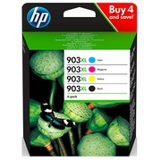 HP 903 XL pack 4 cartridges high capacity: 1 black + 3 colors for inkjet printer