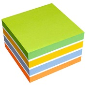 Colored notes Spring 75 x 75 mm - block of 450 sheets