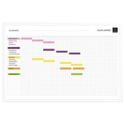 Magnetic project planner 60x90cm