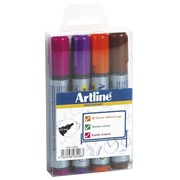 Sleeve with 4 erasable markers Artline Dry Safe 517 fun assortment
