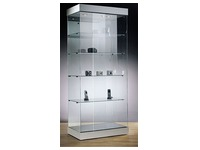 Halogen lighting top for display case, black