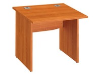 Straight desk Excellens 80 cm full undercarriage wood