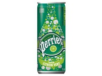 Box of 24 cans 33 cl Perrier sparkling water lime