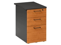 Drawer cabinet at desk height Quarta Plus 3 drawers depth 60 cm