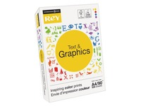 Papier A4 wit 90 g Rey Text & Graphics - riem van 500 vellen