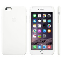 iPhone 6 Plus Siliconen cover wit