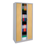 Dismountable tambour cabinet Union 195 x 90 cm shutters in wood colour grey