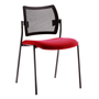 Chair Yota back rest in black mesh structure black legs