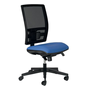 Office chair mesh back and seat in fabric Bruneau Activ' - Permanent contact